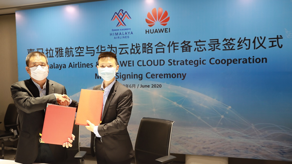 Huawei HImalayan Airlines cloud coperation