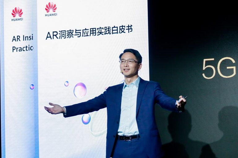 Huawei Carrier BG CMO Bob cai 5G AR Better world summit