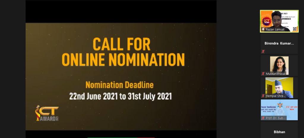 ICT award 2021 nomination call online