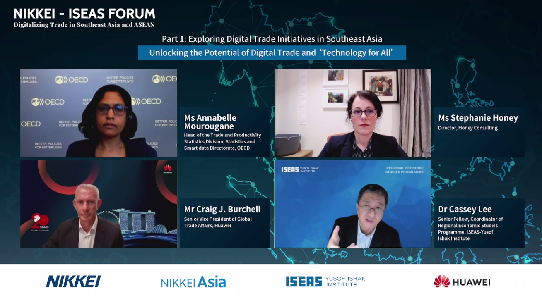 Nikkei Iseas Huawei Digital Trade forum