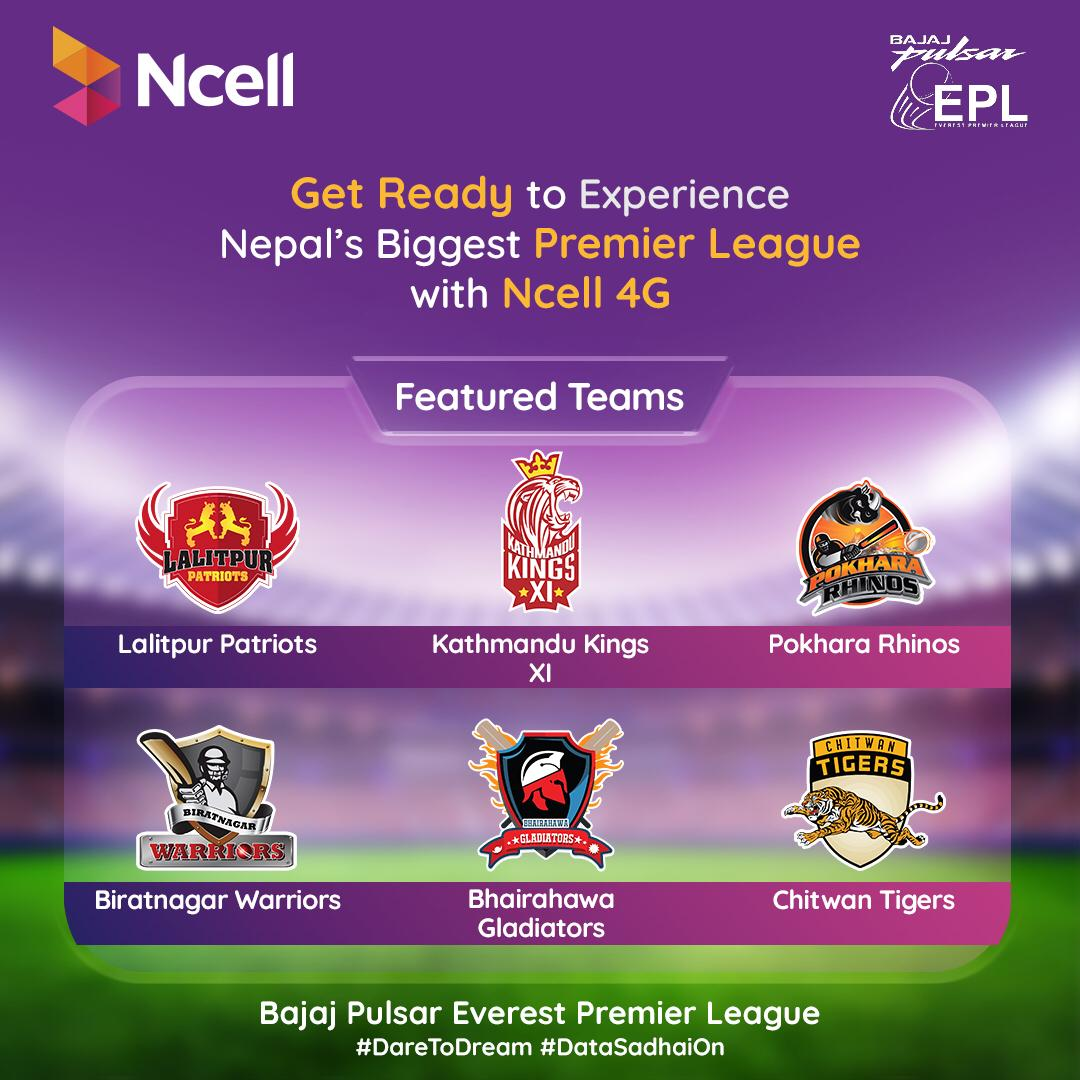 Everest Premier league EPL connected by Ncell 4G