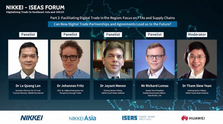 Nikkei Iseas Forum facilitating digital trade