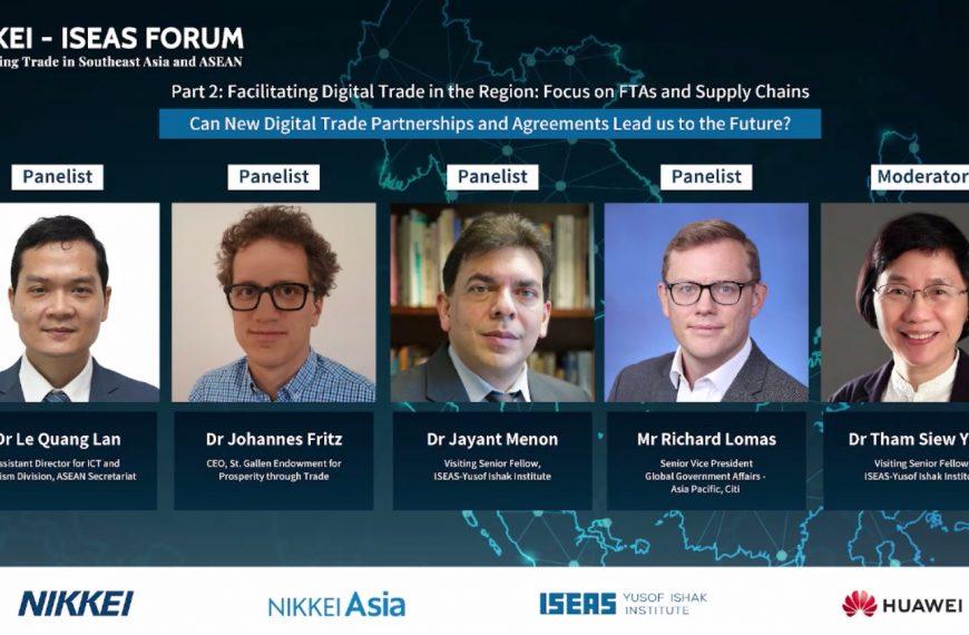 आगामी पाँच बर्ष आसियानको व्यापार र अर्थव्यवस्थाको डिजिटलीकरणको लागि महत्वपूर्णः NIKKEI-ISEAS फोरम