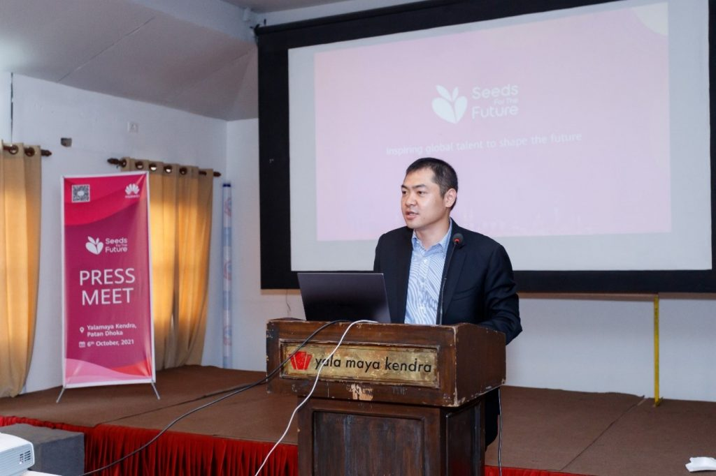 Huawei Nepal CEO seeds for the future